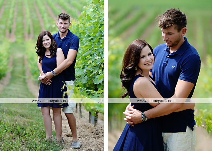 Mechanicsburg Central PA engagement portrait photographer outdoor orchard vineyard trees wildflowers fence field wood wall hug kiss holding hands mustang car aw 02