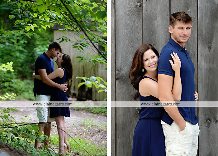 Mechanicsburg Central PA engagement portrait photographer outdoor orchard vineyard trees wildflowers fence field wood wall hug kiss holding hands mustang car aw 03