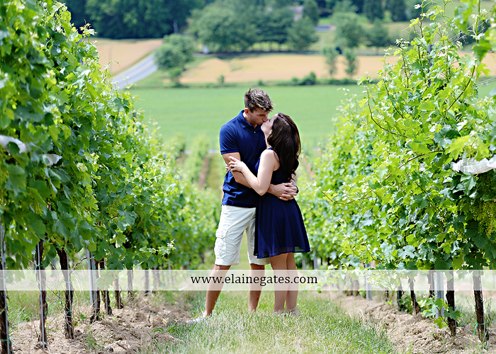 Mechanicsburg Central PA engagement portrait photographer outdoor orchard vineyard trees wildflowers fence field wood wall hug kiss holding hands mustang car aw 08