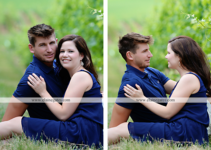 Mechanicsburg Central PA engagement portrait photographer outdoor orchard vineyard trees wildflowers fence field wood wall hug kiss holding hands mustang car aw 09