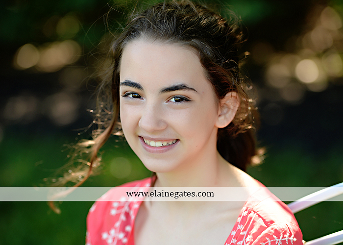 Mechanicsburg Central PA kids teenager portrait photographer outdoor girl swing grass trees iron bench hw 1