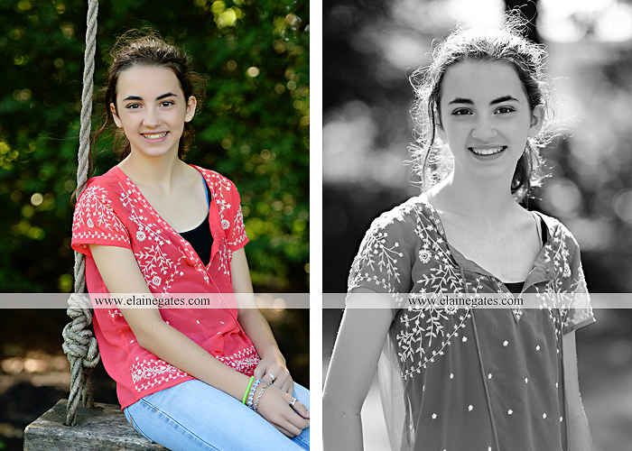 Mechanicsburg Central PA kids teenager portrait photographer outdoor girl swing grass trees iron bench hw 2