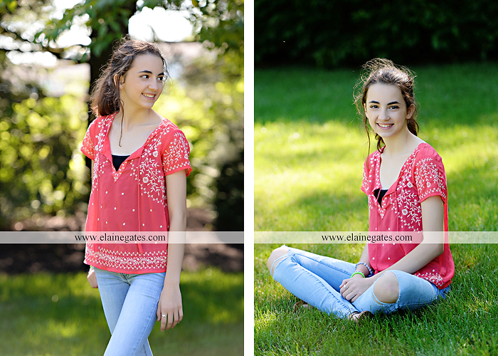 Mechanicsburg Central PA kids teenager portrait photographer outdoor girl swing grass trees iron bench hw 3
