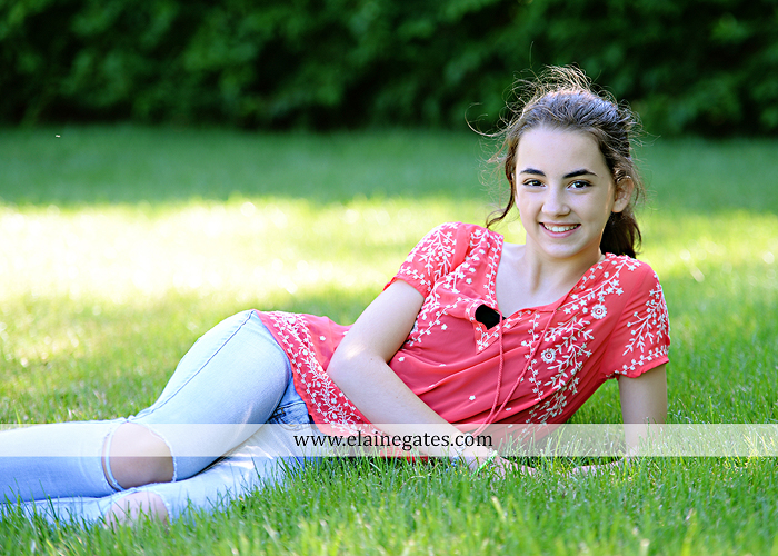 Mechanicsburg Central PA kids teenager portrait photographer outdoor girl swing grass trees iron bench hw 4
