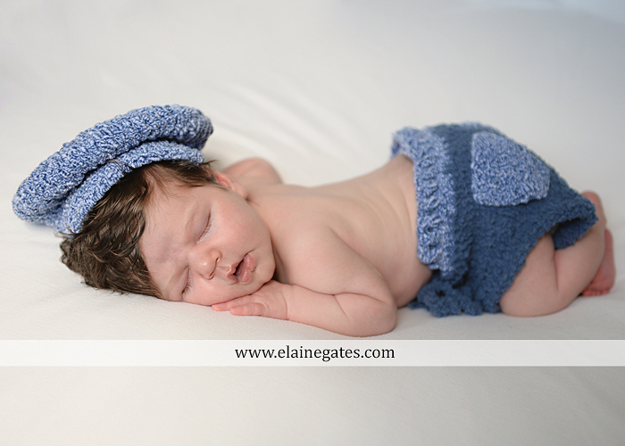 Mechanicsburg Central PA newborn baby portrait photographer boy sleeping blanket knit hat mother father son chair indoor ao 07