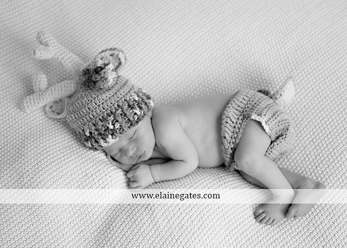 Mechanicsburg Central PA newborn baby portrait photographer girl sleeping blanket knit hat bow pink jb 22