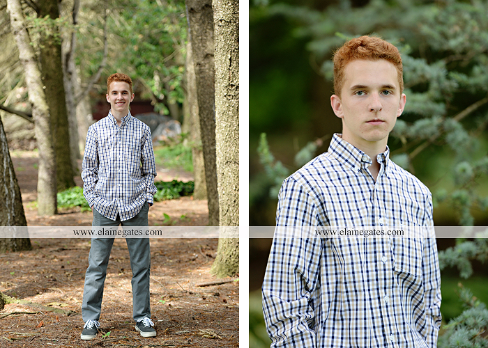 Mechanicsburg Central PA senior portrait photographer outdoor boy male formal trees woods grass wood pile forest ap 6