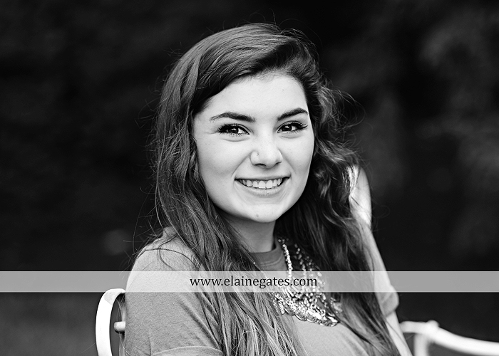 Mechanicsburg Central PA senior portrait photographer outdoor girl formal grass bench swing hammock wildflowers road field fence tree creek brick wall gate doorway steps staircase windows ed02