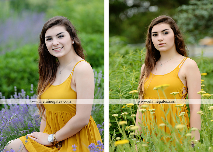 Mechanicsburg Central PA senior portrait photographer outdoor girl formal grass bench swing hammock wildflowers road field fence tree creek brick wall gate doorway steps staircase windows ed06