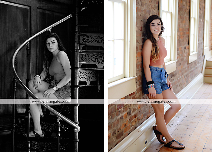 Mechanicsburg Central PA senior portrait photographer outdoor girl formal grass bench swing hammock wildflowers road field fence tree creek brick wall gate doorway steps staircase windows ed13