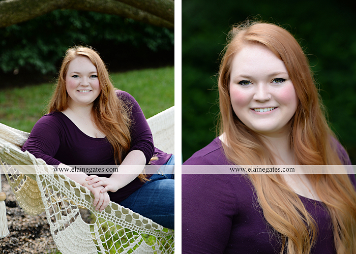 Mechanicsburg Central PA senior portrait photographer outdoor girl formal swing hammock iron bench grass Red Land high school ld 4