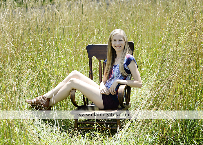 Mechanicsburg Central PA senior portrait photographer outdoor girl formal swing hammock iron bench grass field chair bow road tree water stream creek fence hw 3