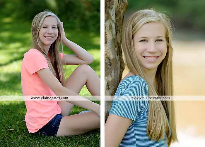 Mechanicsburg Central PA senior portrait photographer outdoor girl formal swing hammock iron bench grass field chair bow road tree water stream creek fence hw 6