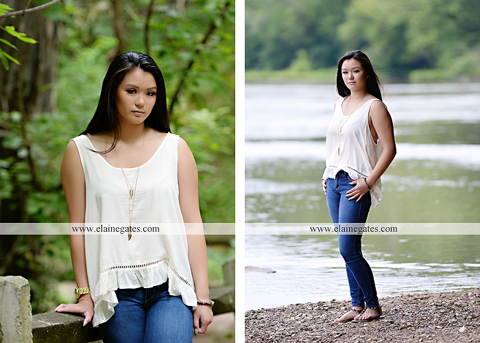 Mechanicsburg Central PA senior portrait photographer outdoor girl formal swing hammock iron bench grass wildflowers road train steps trees shore water stream creek bk 12