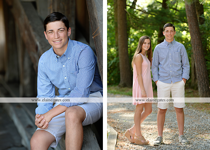 Mechanicsburg Central PA senior portrait photographer outdoor guy male formal trees rocks covered bridge messiah college water creek stream wooden beams golf lacrosse goal trinity bt 06