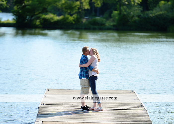 Mechanicsburg Central PA engagement portrait photographer outdoor dock water lake trees path sail boat ring hug kiss canoes pinchot state park ml 1
