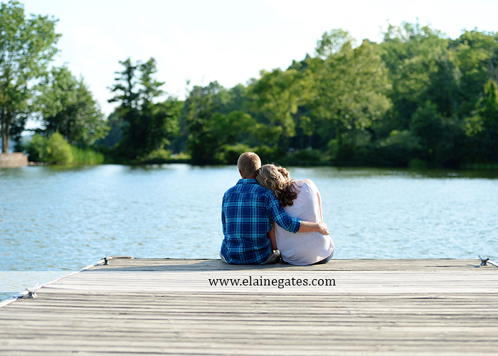 Mechanicsburg Central PA engagement portrait photographer outdoor dock water lake trees path sail boat ring hug kiss canoes pinchot state park ml 2