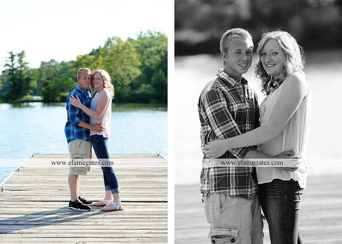 Mechanicsburg Central PA engagement portrait photographer outdoor dock water lake trees path sail boat ring hug kiss canoes pinchot state park ml 3