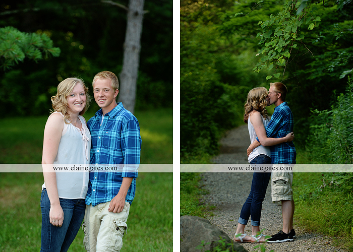 Mechanicsburg Central PA engagement portrait photographer outdoor dock water lake trees path sail boat ring hug kiss canoes pinchot state park ml 4