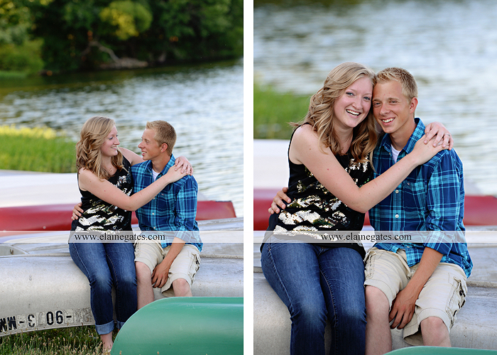 Mechanicsburg Central PA engagement portrait photographer outdoor dock water lake trees path sail boat ring hug kiss canoes pinchot state park ml 8