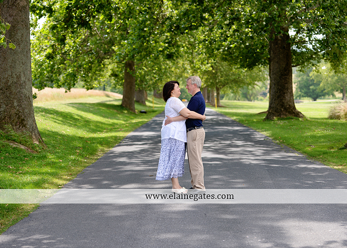 Mechanicsburg Central PA engagement portrait photographer outdoor road holding hands hug trees water creek stream kiss dr 1