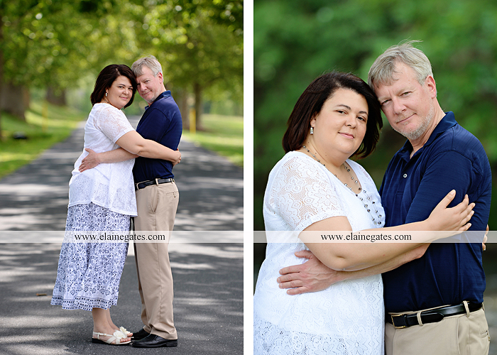 Mechanicsburg Central PA engagement portrait photographer outdoor road holding hands hug trees water creek stream kiss dr 3