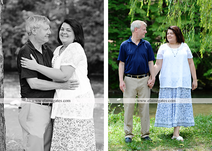 Mechanicsburg Central PA engagement portrait photographer outdoor road holding hands hug trees water creek stream kiss dr 4
