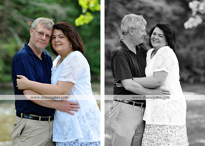 Mechanicsburg Central PA engagement portrait photographer outdoor road holding hands hug trees water creek stream kiss dr 5
