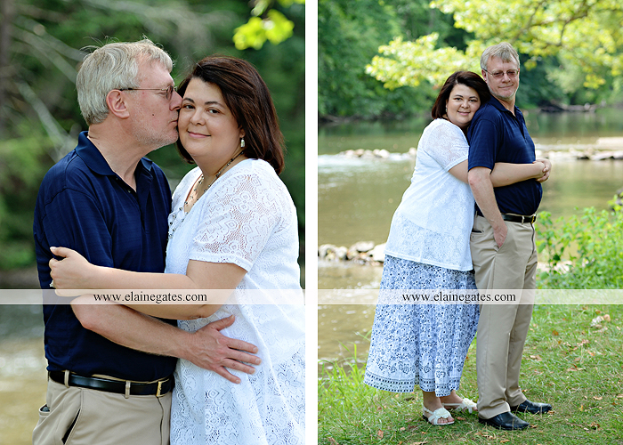 Mechanicsburg Central PA engagement portrait photographer outdoor road holding hands hug trees water creek stream kiss dr 6