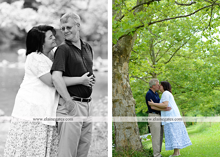 Mechanicsburg Central PA engagement portrait photographer outdoor road holding hands hug trees water creek stream kiss dr 7