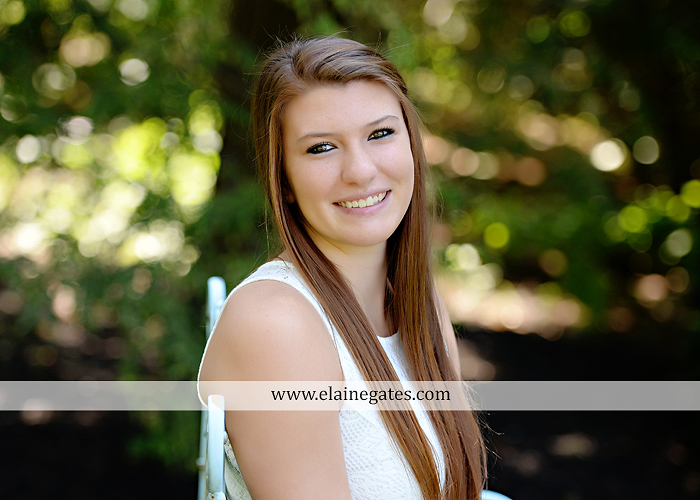 Mechanicsburg Central PA senior portrait photographer outdoor girl female formal swing iron bench tree hammock grass wildflowers field millers burg basketball road water stream creek fence rocks kb 02