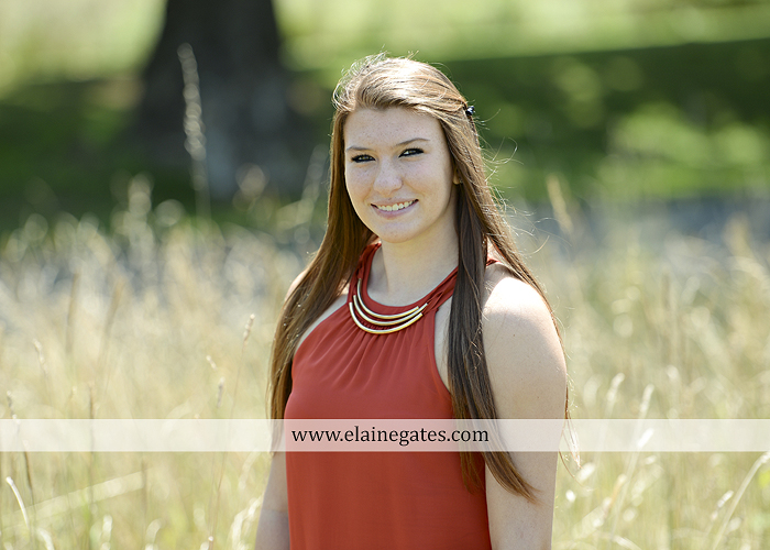 Mechanicsburg Central PA senior portrait photographer outdoor girl female formal swing iron bench tree hammock grass wildflowers field millers burg basketball road water stream creek fence rocks kb 06