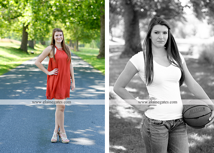 Mechanicsburg Central PA senior portrait photographer outdoor girl female formal swing iron bench tree hammock grass wildflowers field millers burg basketball road water stream creek fence rocks kb 08
