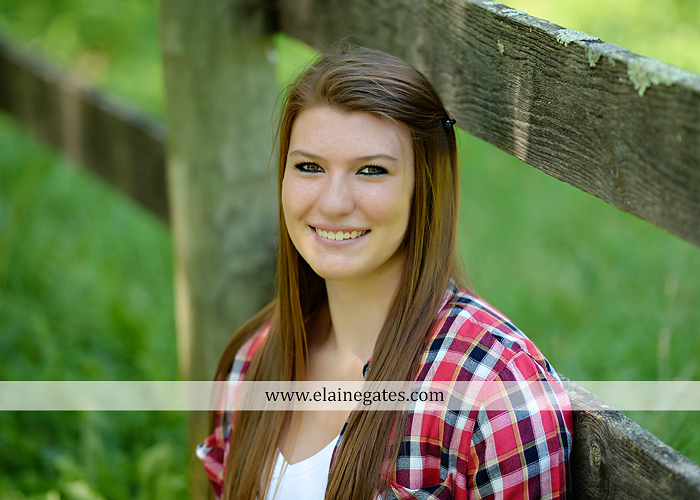 Mechanicsburg Central PA senior portrait photographer outdoor girl female formal swing iron bench tree hammock grass wildflowers field millers burg basketball road water stream creek fence rocks kb 10