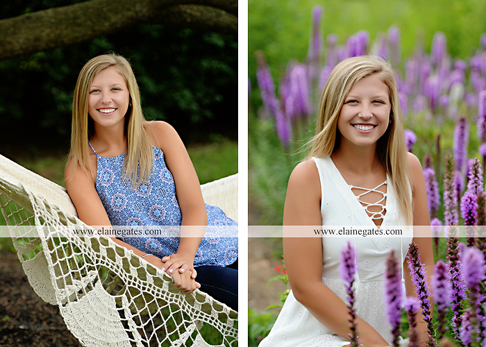 Mechanicsburg Central PA senior portrait photographer outdoor girl female formal swing tree iron bench wildflowers hammock bridge covered bridge messiah college field water ls 05