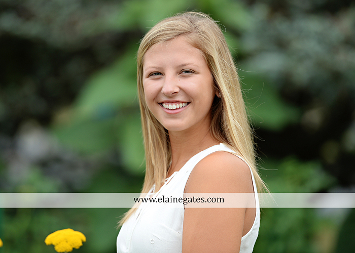 Mechanicsburg Central PA senior portrait photographer outdoor girl female formal swing tree iron bench wildflowers hammock bridge covered bridge messiah college field water ls 06
