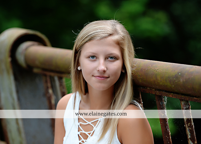 Mechanicsburg Central PA senior portrait photographer outdoor girl female formal swing tree iron bench wildflowers hammock bridge covered bridge messiah college field water ls 07