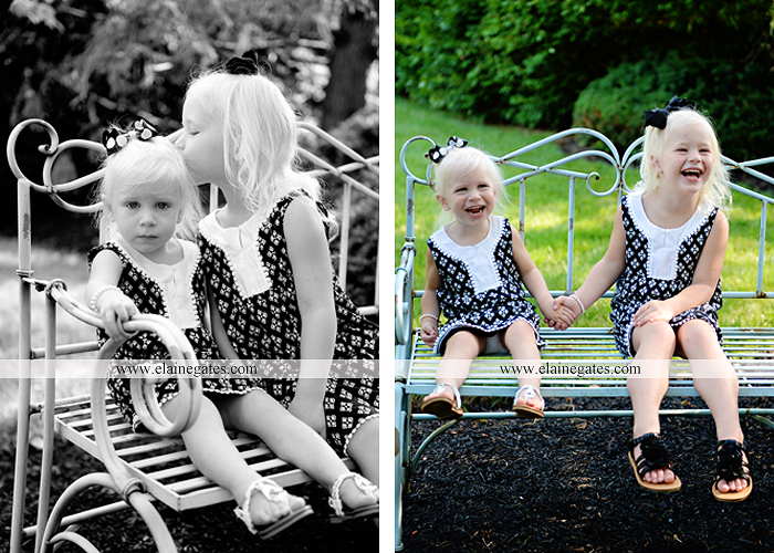 mechanicsburg-central-pa-family-portrait-photographer-outdoor-father-mother-daughters-sisters-siblings-iron-bench-wooden-swing-wildflowers-grass-holding-hands-hug-kw-11