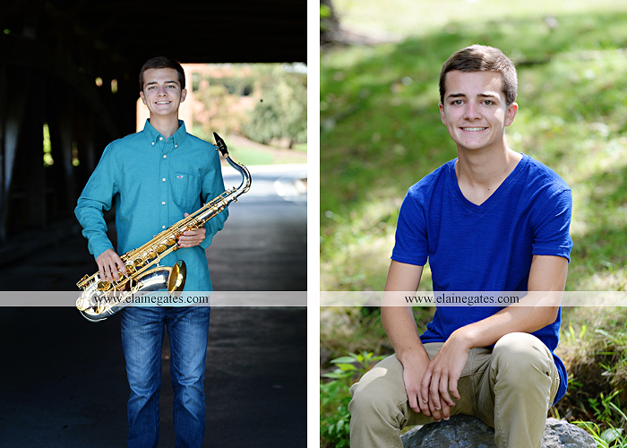 mechanicsburg-central-pa-senior-portrait-photographer-outdoor-male-guy-formal-saxophone-bridge-road-covered-bridge-messiah-college-wooden-beam-trees-brothers-mother-jy-8