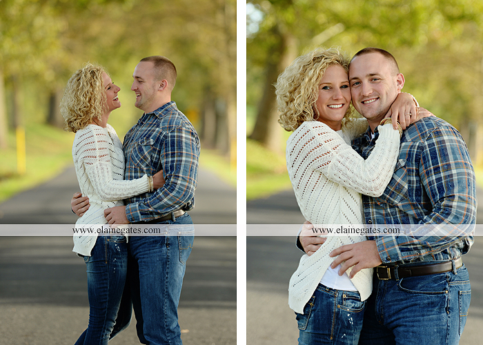mechanicsburg-central-pa-engagement-portrait-photographer-outdoor-couple-love-hug-kiss-ring-holding-hands-road-field-hay-bale-sunset-tree-fence-water-creek-stream-shore-dog-wildflowers-ce01