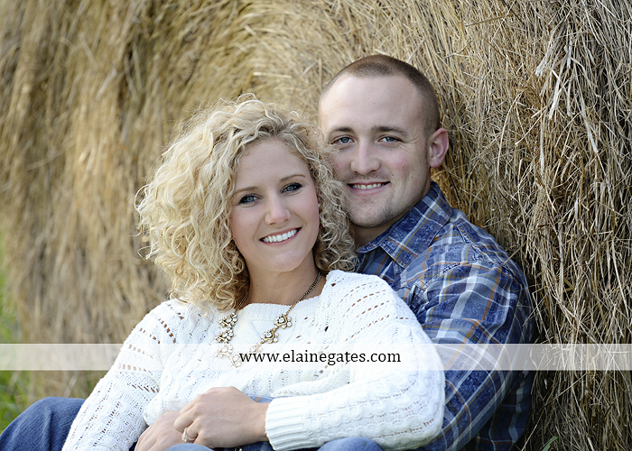 mechanicsburg-central-pa-engagement-portrait-photographer-outdoor-couple-love-hug-kiss-ring-holding-hands-road-field-hay-bale-sunset-tree-fence-water-creek-stream-shore-dog-wildflowers-ce03