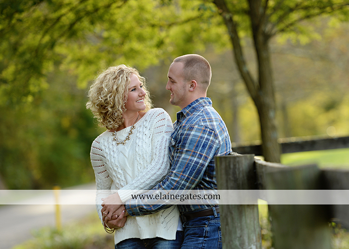 mechanicsburg-central-pa-engagement-portrait-photographer-outdoor-couple-love-hug-kiss-ring-holding-hands-road-field-hay-bale-sunset-tree-fence-water-creek-stream-shore-dog-wildflowers-ce06