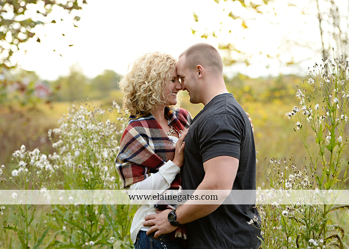 mechanicsburg-central-pa-engagement-portrait-photographer-outdoor-couple-love-hug-kiss-ring-holding-hands-road-field-hay-bale-sunset-tree-fence-water-creek-stream-shore-dog-wildflowers-ce13