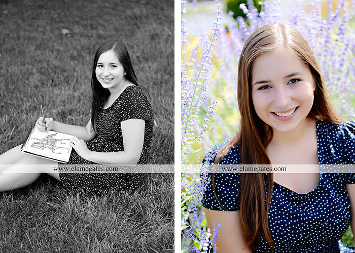 central pa senior portrait photographer bench tree flute music stream creek art sketch wildflowers stone stairs horse stable barn hw 4