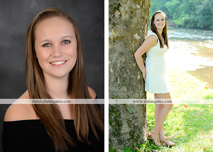 central pa senior portrait photographer road trees girls sisters friends sunflowers grass wildflowers tree water stream creek volleyball formal mc 11