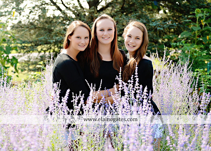 central pa senior portrait photographer road trees girls sisters friends sunflowers grass wildflowers tree water stream creek volleyball formal mc 4