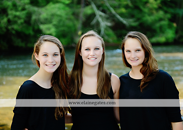 central pa senior portrait photographer road trees girls sisters friends sunflowers grass wildflowers tree water stream creek volleyball formal mc 7