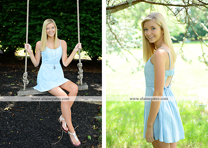 central pa senior portrait photographer water stream creek fence hammock hay bale swing sunflowers wildflowers jw 4