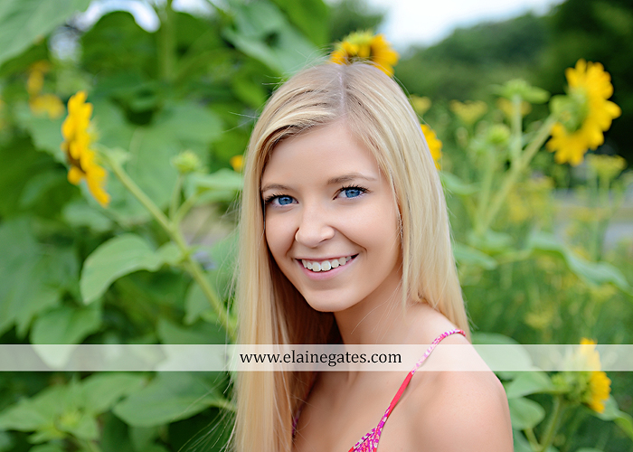 central pa senior portrait photographer water stream creek fence hammock hay bale swing sunflowers wildflowers jw 5