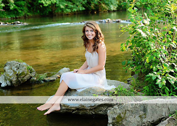 central pa senior portrait photographer wildflowers stream creek water rock fence grass hg 2